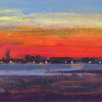 Evening in the Solent LXXII,I oil on board, 13 x 18 cm (1621)