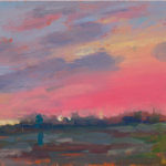 Evening in the Solent XXXIV, oil on board, 13 x 18 cm (0924)