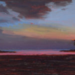 Sunset in Thailand III, Oil on board, 13 x 18 cm (1053)