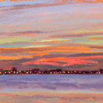 Evening in the Solent LXIV, oil on board, 13 x 18 cm (1612)