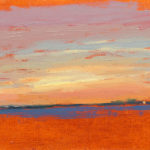 Sunrise in the Solent 27, oil on canvas, 13 x 18 cm (1757)