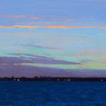 Sunrise in the Solent 34, oil on board, 13 x 18 cm (1764)