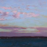 Sunrise in the Solent 35, oil on board, 13 x 18 cm (1765)