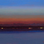 Sunrise in the Solent I, oil on board, 18 x 25 cm (3019)