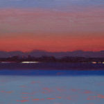 Sunrise in the Solent II, oil on board, 18 x 25 cm (3020)