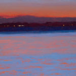 Sunrise in the Solent X, oil on board, 18 x 25 cm (3034)