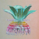 Passiflora 5, Japanese paper, mineral pigments, chinese ink, 20,8x20,8cm