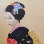 Maiko Japanese paper, mineral pigments, chinese ink 49x42cm
