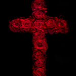 'Crucifix' (47) from 'Rosae' 2010, 19 x 25cm chromogenic print Edition 1 of 1 mounted to aluminium bedded in black cotton velvet framed in a sight edged walnut frame