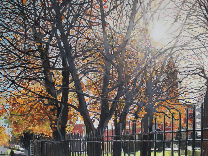 Dulwich College Autumn Oil on board Sophy Bristol