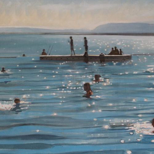 Sparkly Lake Geneva  Oil on canvas  Sophy Bristol