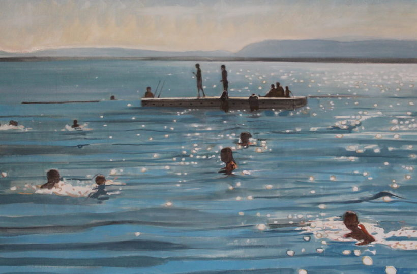 Sparkly Lake Geneva Oil on canvas Sophgy B
