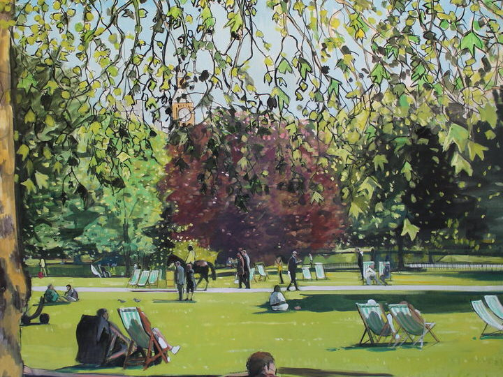 St James Park Oil on canvas Sophy Bristol