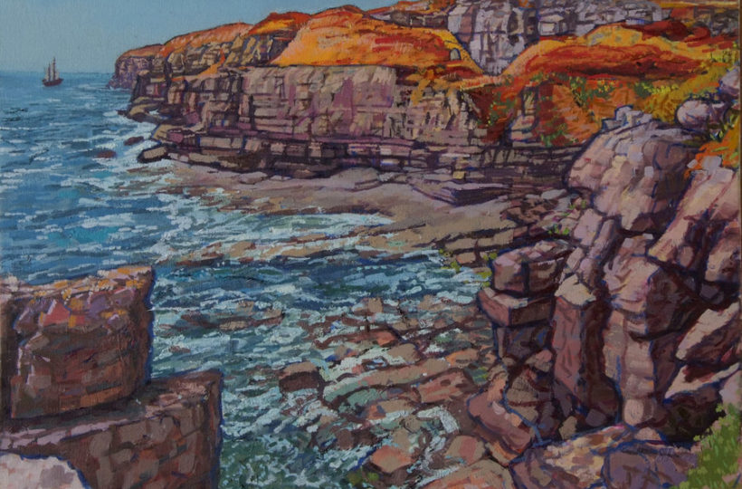 Winsprit, Worth Matravers, Jurrasic Coast Oil on canvas Lucy Erskine
